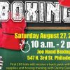 Joe Hand Boxing Gym  to Host Back to School Event