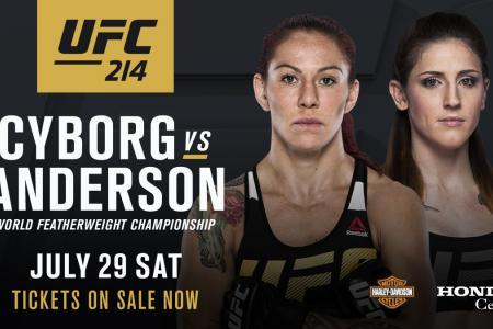 Cyborg faces Anderson for FW Title at UFC 214