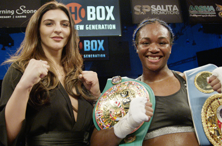 CLARESSA SHIELDS TO FACE CHRISTINA HAMMER IN MIDDLEWEIGHT WORLD CHAMPIONSHIP UNIFICATION