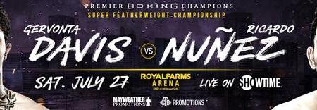 Two-Time Super Featherweight World Champion Gervonta Davis Makes Baltimore Homecoming to Defend Title Against Mandatory Challenger Ricardo Núñez Saturday, July 27 Live on SHOWTIME